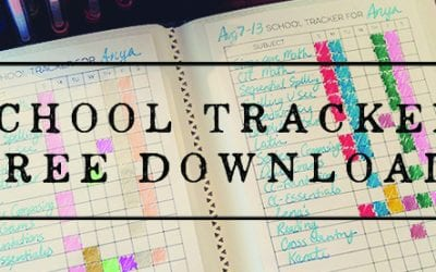 Bullet Journaling Homeschool Tracker – Free Download